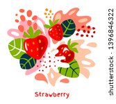 fresh strawberry berry berries... | Shutterstock .eps vector #1396846322