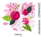 fresh cherries berry berries... | Shutterstock .eps vector #1396846325