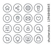 basic line icons for web  vector