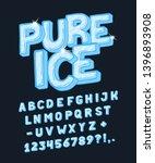font pure ice.  craft retro... | Shutterstock .eps vector #1396893908