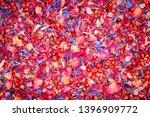 Stock photo edible aromatic mixture of sea salt fine fruity rose petals mild peppery pink berries corn 1396909772