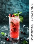 fresh berries cocktail with...   Shutterstock . vector #1396917878