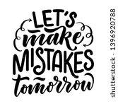 motivational calligraphy poster.... | Shutterstock .eps vector #1396920788