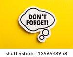 do not forget reminder speech... | Shutterstock . vector #1396948958