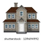 Old Style Gray Brick Cottage...