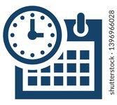 blue calendar icon. day planner ...
