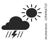 black and white weather icon ... | Shutterstock .eps vector #1396966715