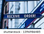 word writing text receive order.... | Shutterstock . vector #1396986485