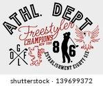 athletic golf team  vector art | Shutterstock .eps vector #139699372