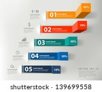 Stock vector modern business steps to success charts and graphs options banner vector illustration modern 139699558