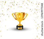 golden champion cup isolated on ... | Shutterstock .eps vector #1396997048