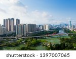 a drone aerial view of the city | Shutterstock . vector #1397007065
