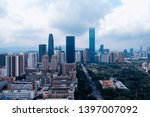 a drone aerial view of the city | Shutterstock . vector #1397007092