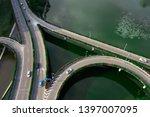 an overpass photographed by a... | Shutterstock . vector #1397007095