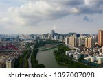a drone aerial view of the city | Shutterstock . vector #1397007098