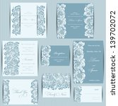 set of wedding invitation cards ... | Shutterstock .eps vector #139702072