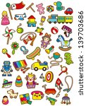 a variety of children's toys | Shutterstock . vector #139703686