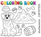 coloring book dog theme 7  ... | Shutterstock .eps vector #139707532