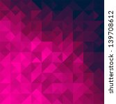 pink geometric triangle... | Shutterstock .eps vector #139708612