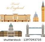travel to england. landmarks ... | Shutterstock .eps vector #1397093735