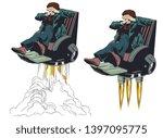 stock illustration. frightened...   Shutterstock .eps vector #1397095775