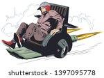 stock illustration. man in...   Shutterstock .eps vector #1397095778