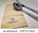 Brown Recycled Material Napkin...