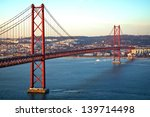 red bridge  lisbon  portugal | Shutterstock . vector #139714498