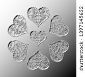 seven black and white relief... | Shutterstock . vector #1397145632