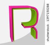 colorful big 3d letter. trendy... | Shutterstock .eps vector #1397150288