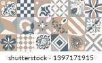 traditional ornate portuguese... | Shutterstock .eps vector #1397171915