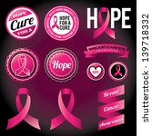 vector breast cancer awareness... | Shutterstock .eps vector #139718332