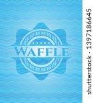 Waffle Sky Blue Water Wave...