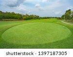 golfcourse  beautiful landscape ... | Shutterstock . vector #1397187305