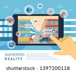 augmented reality technology... | Shutterstock .eps vector #1397200118