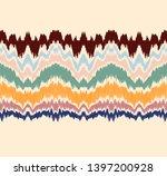 ikat border. geometric folk... | Shutterstock .eps vector #1397200928