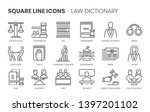law dictionary related  square... | Shutterstock .eps vector #1397201102