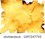 grunge crumpled dirty beige... | Shutterstock . vector #1397247755