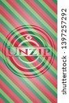 Unzip Christmas Emblem...