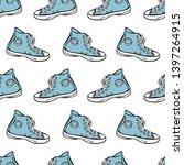 sneakers. summer footwear.... | Shutterstock .eps vector #1397264915