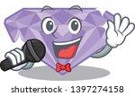 singing violet diamond in a...   Shutterstock .eps vector #1397274158