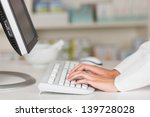 closeup of pharmacist's hands...   Shutterstock . vector #139728028