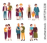 collection of cute gay and... | Shutterstock . vector #1397291228
