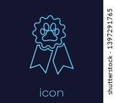 turquoise pet award symbol line ... | Shutterstock .eps vector #1397291765