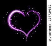 Beautiful Purple Neon Heart...
