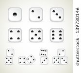 Numbers Of Dice. Vector  1 10...