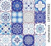 lisbon azujelo vector seamless... | Shutterstock .eps vector #1397305082