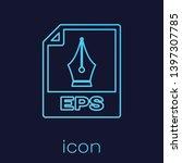 turquoise eps file document... | Shutterstock .eps vector #1397307785