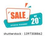 set of flat discount label... | Shutterstock .eps vector #1397308862
