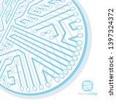 vector circuit board  digital... | Shutterstock .eps vector #1397324372